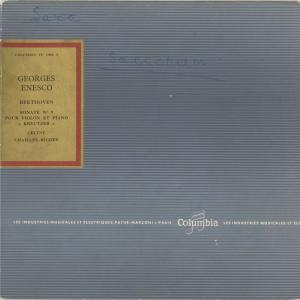 <中古クラシックLPレコード>ベートーヴェン:ヴァイオリン・ソナタ9番Op.47「クロイツェル」/G.エネスク(vn)C.シャイエ・リシェ(pf)/FC 1058