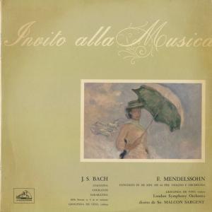 <中古クラシックLPレコード>メンデルスゾーン:ヴァイオリン協奏曲,バッハ/G.デ・ヴィート(vn)M.サージェント指揮ロンドンso./伊HMV:QIM 6360
