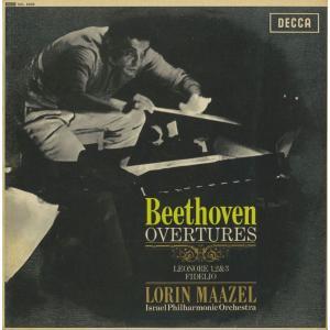 <中古クラシックLPレコード>「ベートーヴェン:序曲集」レオノーレ1〜3番,フィデリオ/L.マゼール指揮イスラエルpo./英DECCA:SXL 6025 silent-tone-record