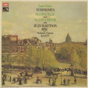 <中古クラシックLPレコード>サン・サーンス:交響曲1番Op.2,2番Op.55/J.マルティノン指揮フランス国立放送o./英HMV:ASD 2946|silent-tone-record