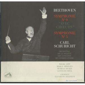 <中古クラシックLPレコード>ベートーヴェン:交響曲9番「合唱」,5番「運命」/C.シューリヒト指揮パリ音楽院o.,他/仏VSM:FALP 577-8