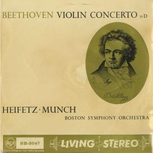 <中古クラシックLPレコード>ベートーヴェン:ヴァイオリン協奏曲Op.61/J.ハイフェッツ(vn)C.ミュンシュ指揮ボストンso./英RCA:SB 2047 silent-tone-record