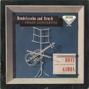 <中古クラシックLPレコード>ヴァイオリン協奏曲集/メンデルスゾーン,ブルッフ:1番/R.リッチ(vn)P.ガンバ指揮ロンドンso./英DECCA:SXL 2006 silent-tone-record