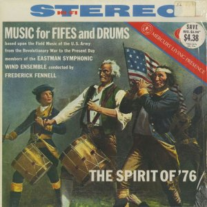 <中古クラシックLPレコード>「MUSIC for FIFES and DRUMS」/F.フェネル指揮イーストマン交響吹奏楽団/米MERCURY:SR 90111|silent-tone-record