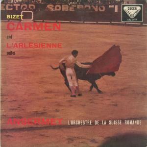 <中古クラシックLPレコード>ビゼー:カルメン組曲,アルルの女組曲/E.アンセルメ指揮スイス・ロマンドo./英DECCA:SXL 2037