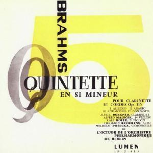 <自主製作CDR>ブラームス:クラリネット五重奏曲Op.115