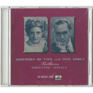 <自主製作DSD>ベートーヴェン:ヴァイオリン・ソナタ「クロイツェル」/ジョコンダ・デ・ヴィート、ティート・アプレーア/英HMV:ALP 1319|silent-tone-record