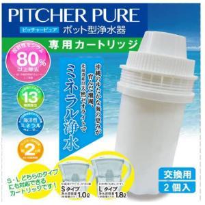 ポット型浄水器ピッチャーピュア専用 交換カートリッジ (2個入り)〔送料無料〕|silicapure