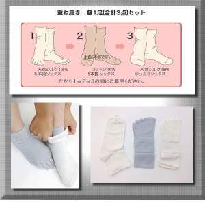 今日からはじめる絹の重ね履き3足セット【お試し価格】日本製|silk-health