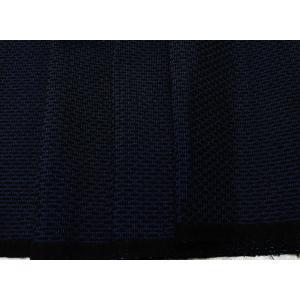 本場大島紬 青系の地色に網の絣文様 緯絣(よこかすり)(シルク 正絹 和柄 和風 友禅 衣装 生地 着物 はぎれ ハギレ)|silk-honpo