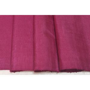 シルク つむぎ 赤紫系の地色の平織り紬 (シルク 正絹 和柄 和風 友禅 衣装 生地 着物 はぎれ ハギレ)|silk-honpo