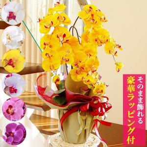 母の日遅れてごめんね 2021 母の日 胡蝶蘭 造花 シルクフラワーの優雅で高貴な胡蝶蘭の鉢植 3本立 CT触媒 光触媒 ギフト|silkflower