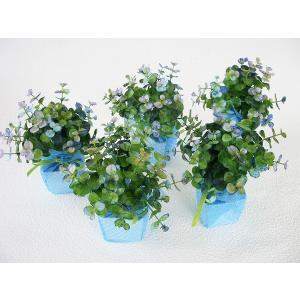 観葉植物 造花 ユーカリのプチポット5個セット フェイクグリーン CT触媒 silkflower