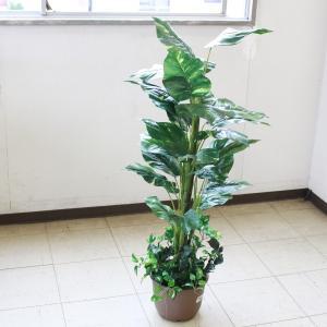 フェイク 観葉植物 大型 ミディアムサイズグリーン ポトス 110 snb silkflower