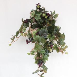 観葉植物 造花 置いても飾れるぶどうの壁掛け CT触媒 silkflower