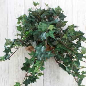 観葉植物 造花 メイプルアイビーの壁掛け フェイクグリーン CT触媒 silkflower