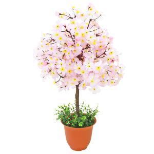桜 造花 ピンク色の桜の鉢植 70cm さくら CT触媒