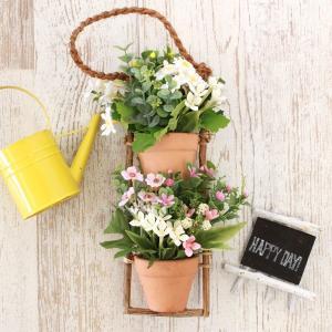 造花 ブバリアとデージーの壁掛け シルクフラワー CT触媒 silkflower