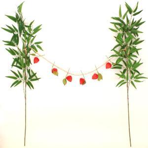 お盆 飾り 笹竹とほおずきの盆棚飾り 盆棚 精霊棚 造花 鬼灯 ほうづき しめ縄 CT触媒