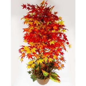 観葉植物 造花 もみじの鉢植えディスプレーアレンジL120 snb 紅葉 CT触媒 silkflower