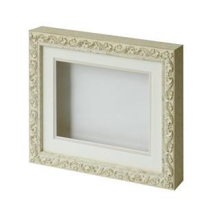 ARTE シャドーボックス8201「6×8サイズ」ホワイト 立体額 ディスプレイフレーム メーカー直送代引不可 時間帯指定不可|silkflower