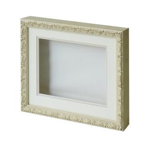 ARTE シャドーボックス8210「6×8サイズ」ゴールド×ホワイト 立体額 ディスプレイフレーム メーカー直送代引不可 時間帯指定不可 silkflower