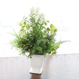 造花 CT触媒加工のアレンジャーおまかせグリーンアレンジ 観葉植物 初めてのお客様限定|silkflower