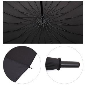 ゴルフ用傘 長傘 防風性能 大型傘 24本骨 紳士傘 撥水加工 アウトドア用品 晴雨併用 男女兼用 大きい  雨具|silkroad2014|04
