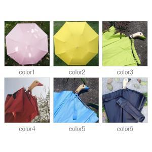 折りたたみ傘  遮光 折り畳み 折りたたみ 軽量 UVカット 紫外線対策 レディース  可愛い アヒル柄  日傘 晴雨兼用|silkroad2014