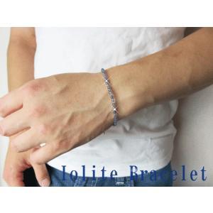 激安特価/ウォーターサファイア/青く透き通った美しい天然石/アイオライトブレスレット/天然石/アジャスター4.5cm silver-almighty 03