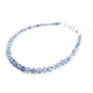 激安特価/ウォーターサファイア/青く透き通った美しい天然石/アイオライトブレスレット/天然石/アジャスター4.5cm silver-almighty 06