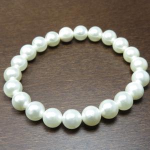 ブレスレット レディース シェル パール 数珠ブレスレット 天然石 パワーストーン 送料無料|silver-almighty|03