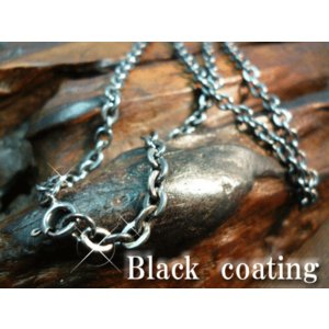 ブラックコーティング/送料無料/幅4mm/ブラックアンカーチェーン/シルバーチェーン/シルバー925/SV925/ネックレス|silver-almighty