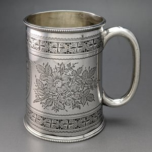 1893年 英国アンティーク 純銀製 マグカップ 185g マッピン&ウェッブ