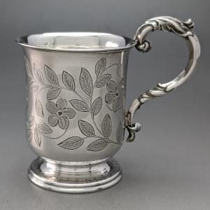 1874年 英国アンティーク 純銀製 ミニマグカップ Hilliard&Thomason