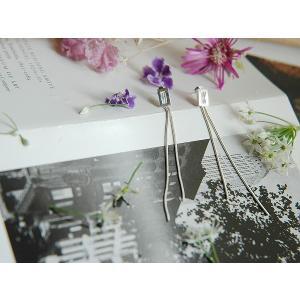ピアス シルバー925 シンプル スネークチェーンピアス|silverbell-jewellery