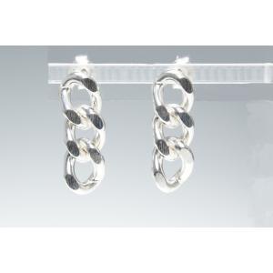 ピアス シルバー925 シンプル SB-3チェーンピアス|silverbell-jewellery