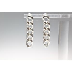 ピアス シルバー925 シンプル SB-5チェーンピアス|silverbell-jewellery