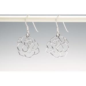 ピアス シルバー925 シンプル 軽量     フレーム ローズピアス|silverbell-jewellery