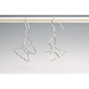 ピアス シルバー925 シンプル 軽量     フレーム バタフライピアス|silverbell-jewellery