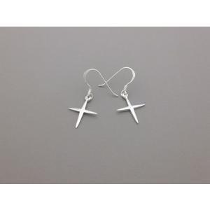 ピアス シルバー925 シンプル 軽量     スタークロス ピアス|silverbell-jewellery
