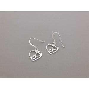 ピアス シルバー925 シンプル 軽量     ハートin2ハート  ピアス|silverbell-jewellery
