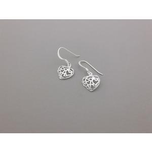 ピアス シルバー925 シンプル 軽量     フレームハート ピアス|silverbell-jewellery