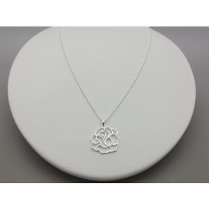 ペンダント シルバー925 シンプル 軽量   フレーム ローズペンダント silverbell-jewellery