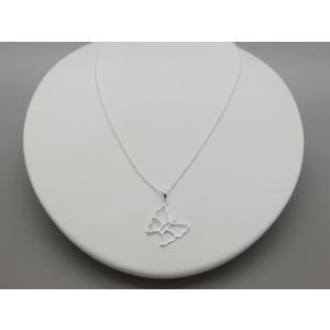 ペンダント シルバー925 シンプル 軽量   フレーム バタフライペンダント silverbell-jewellery