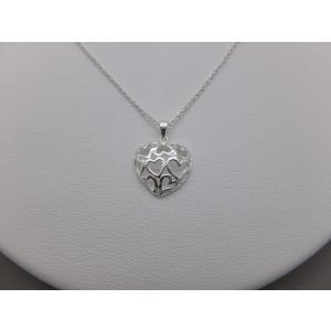 ペンダント シルバー925 シンプル 軽量   フレーム ハートペンダント silverbell-jewellery
