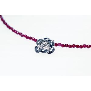 ガーネットネックレス シルバー925 YangLay  silverbell-jewellery