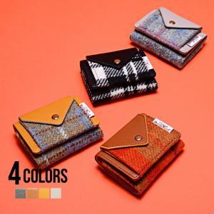 財布 ミニサイズ 小さめ ハリスツイード 三つ折