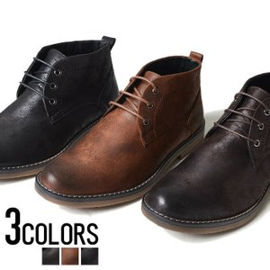 ブーツ メンズ スウェード ショートブーツ 靴 シューズ カ...
