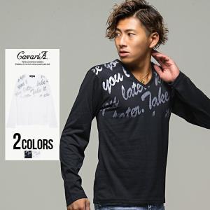 Tシャツ メンズ Vネック 長袖